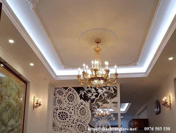 mẫu trần thạch cao phòng khách